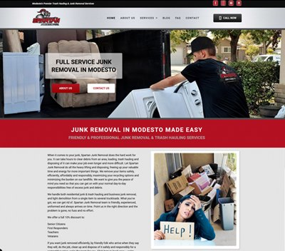 Word Press Junk Removal Website